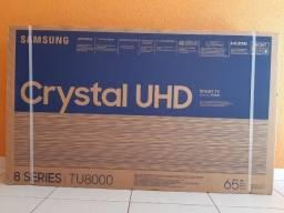 """Smart Tv 65"""" UHD 4K Samsung 65TU8000 lacrada com nota e garantia"""