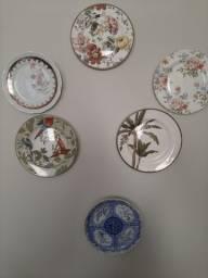 Vendo pratos de decoracao 40.00 cada porcelana