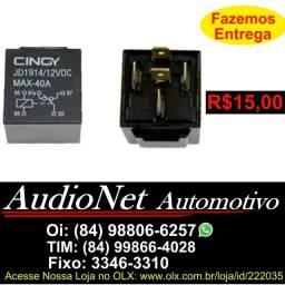 Rele Auxiliar Carro 12v 40 amp 5 Pinos Relê Automotivo Iluminação Xenon Som Alarme