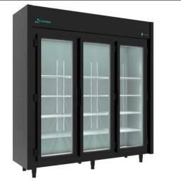 Expositor 3 Portas Frios e laticínios Black ( melhor preço da região