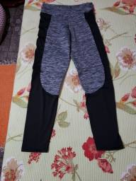 Calça legging mesclada  com preto