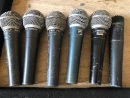 Microfone Shure com defeito