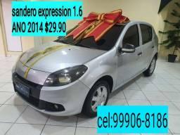 """""""""""SANDERO EXPRESSION 1.6 COMPLETO QUITADO E SELADO COM IPVA PAGO"""