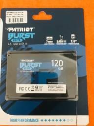 vendo SSD nova 120 gb