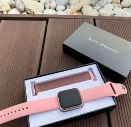 Relógio SmartWatch T80 troca pulseira, troca a foto de fundo