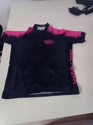 Camisa de ciclismo feminina M