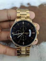 Relógio Nibosi 1985 Dourado de Luxo