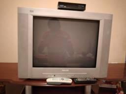 Televisão Philips 20 polegadas tela plana com conversor para tv digital
