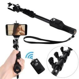 Bastão de Selfie com Controle Remoto até 1,25m - NOVO