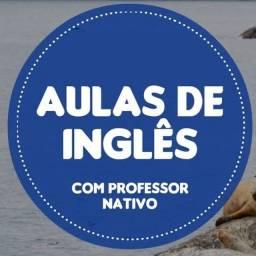 Aula de inglês com professor nativo