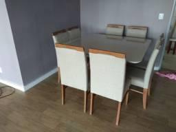 Título do anúncio: Mesa de 6 lugares quadrada pintura laka e madeira