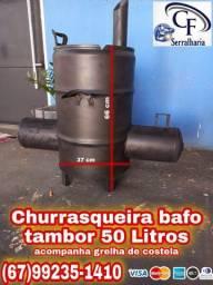 Churrasqueira bafo tambor 50 litros