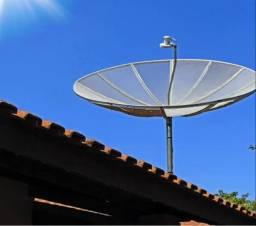 Antena parabolica com aparelho