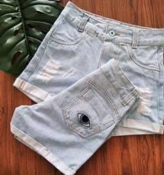 Short jeans feminino c/ lycra elastano atacado revenda ou uso pessoal