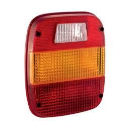 Lanterna Traseira Lente Lisa C/ Vigia   Pradolux   Ref: PL04402409
