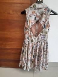 Vestido Antix estampa fazendinha