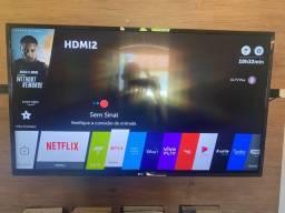 Smart TV 43 polegadas LG ac cartão até 12x
