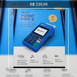 Maquina maquineta leitor de cartao mercado pago point pró 2 imprime
