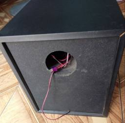 caixa subwooter original phillips fwm653 150w - Rms - 6 Ohms