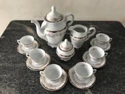 Conjunto Jogo de Café Schmidt Porcelana 15 Peças Ano 1999
