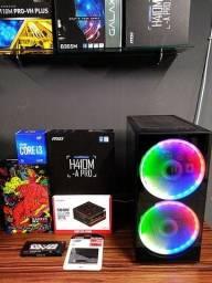 Pc Gamer I3 10100F Décima / RX 550 4gb / SSD 120gb / 500w PFC / 8gb 2666mhz / NOVO