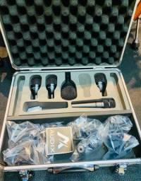 Kit de 5 mic para bateria Audix FP5 NOVO.