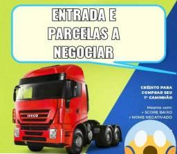 Vendo caminhão no parcelado