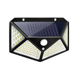 Luminária solar com 100 leds sensor de presença