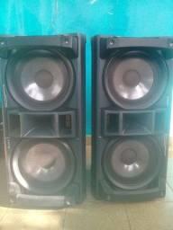 dois caixas de som