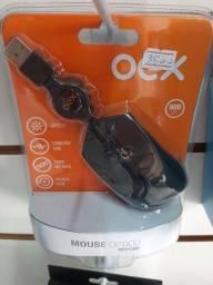 Mouse com cabo retrátil