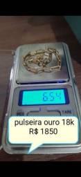 Pulseira ouro 18k maciça  6.5 gramas