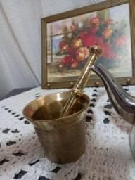 Itens para cozinha, pilão de bronze
