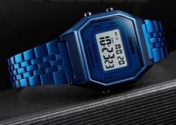 Relógio Azul Retrô