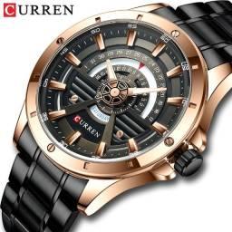 relógio de aço suiço Curren