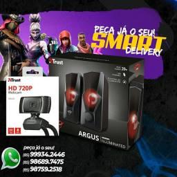 Acessórios para pc - caixa de som, Webcam
