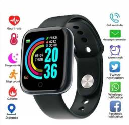 Relógio Smart Watch com Bluetooth USB com Monitor Cardíaco PK W26 X7 Smartwatch