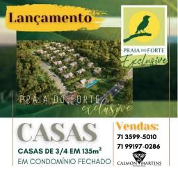 Espetacular Praia do Forte Exclusive, casas com 3/4 em 136 m²