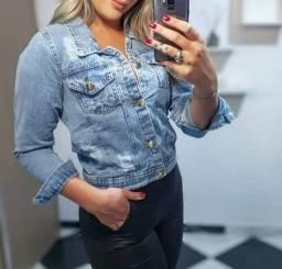 Jaqueta casacos jeans feminino e masculino atacado