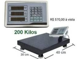 Título do anúncio: Balança plataforma Industrial 180kg 200kg 300kg 350kg 600kg e 700kg