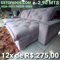 Sofá Mega Confortável! >> (12X de R$:275,00)