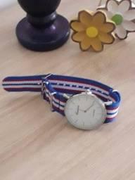 relógio listras - novo