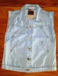 Colete Jeans Recortes Iorane