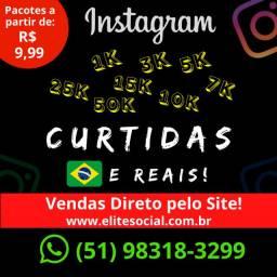 Curtidas Instagram (1K) - Brasileiros - Ativos - Reais
