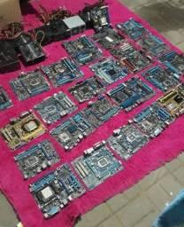 50 placa mãe + notebook, netbook etc