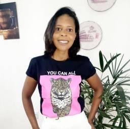 Camisas de Algodão T-shirts Femininas