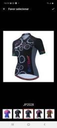 Camisa feminina ciclismo