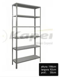 Promoção prateleira / estante de Aço c/ 06 bandejas c / reforço p-30 ( nova )