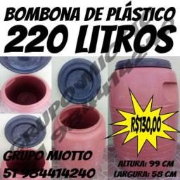 Tonel Bombona Tambor 220 Litros com Tampa de Rosca