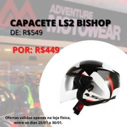Capacete ls2 aberto bishop