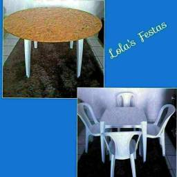Locação de Mesas e Cadeiras a partir de 10,00 o conj